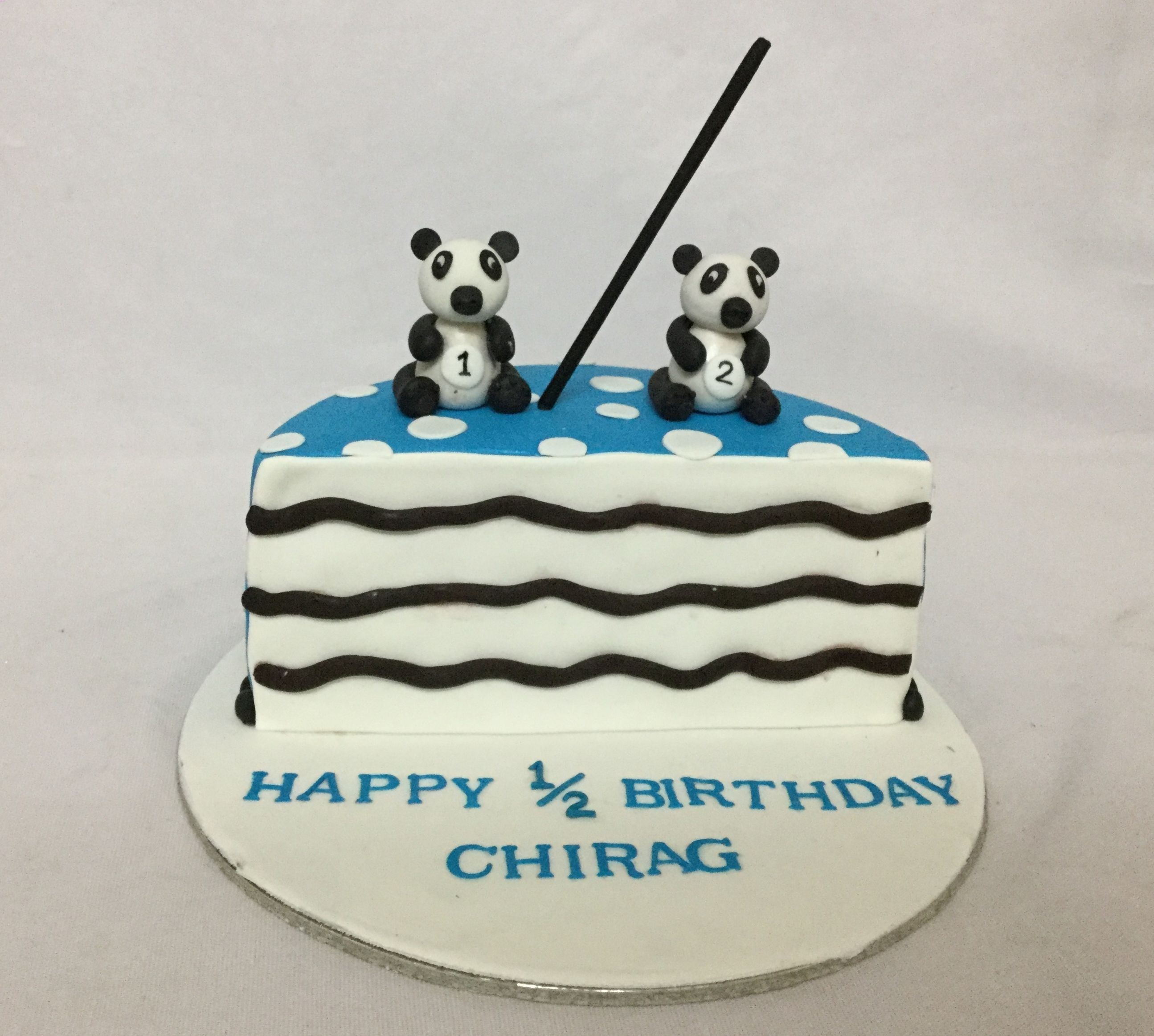 2325 In 32 Elegant Photo Of Half Birthday Cake Online Customized Cakes Delivery I Bangalore