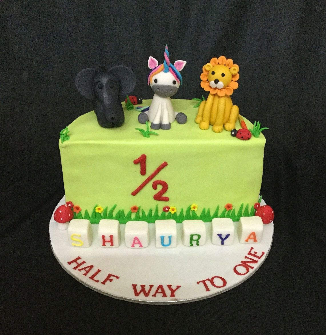 Half Birthday Cake Online Customized Cakes Delivery I Bangalore L Theme Cakes L Miras
