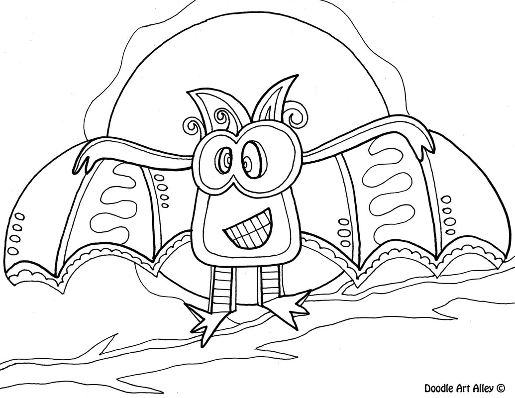 Halloween Coloring Pages Printable Halloween Coloring Pages Doodle Art Alley