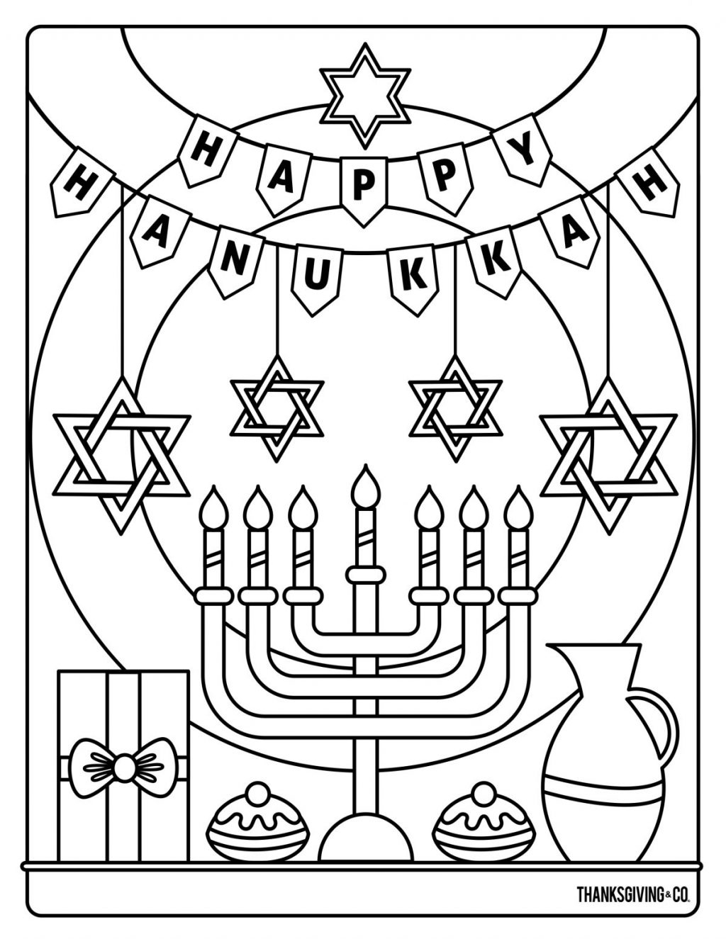25+ Inspired Image of Hanukkah Coloring Pages