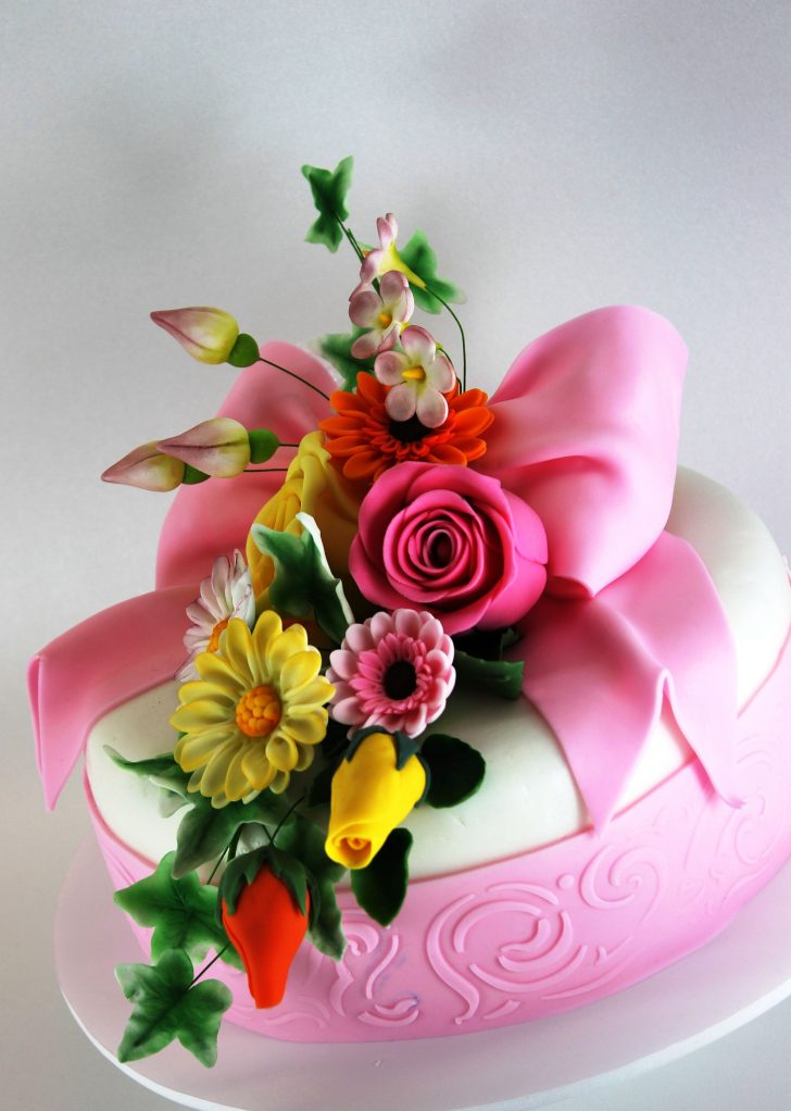 34+ Great Photo of Happy Birthday Cake And Flowers Images ...