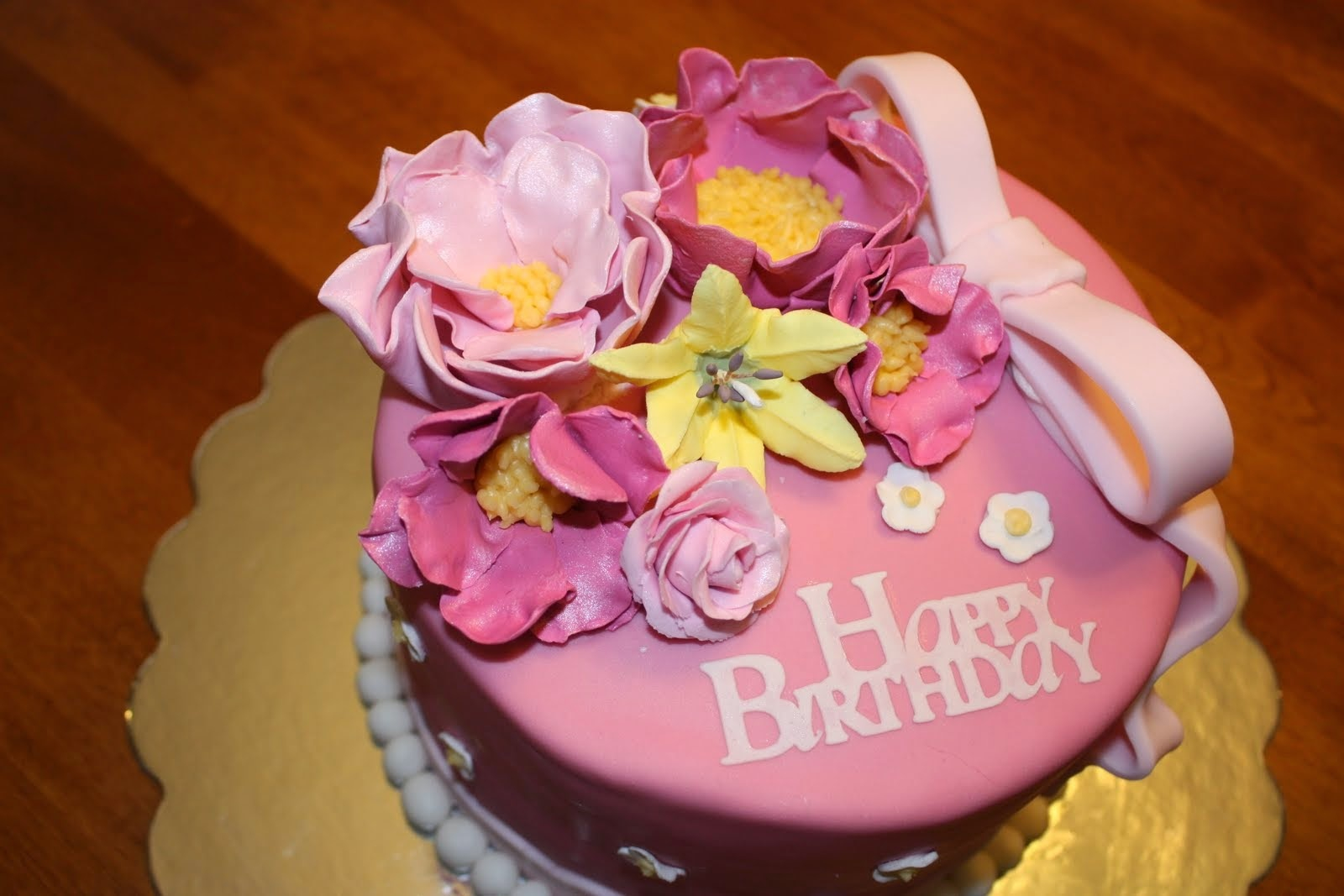 Happy Birthday Cake And Flowers Images Flowers Page 5 Of 39 Cakes And Cupcakes Inspiration