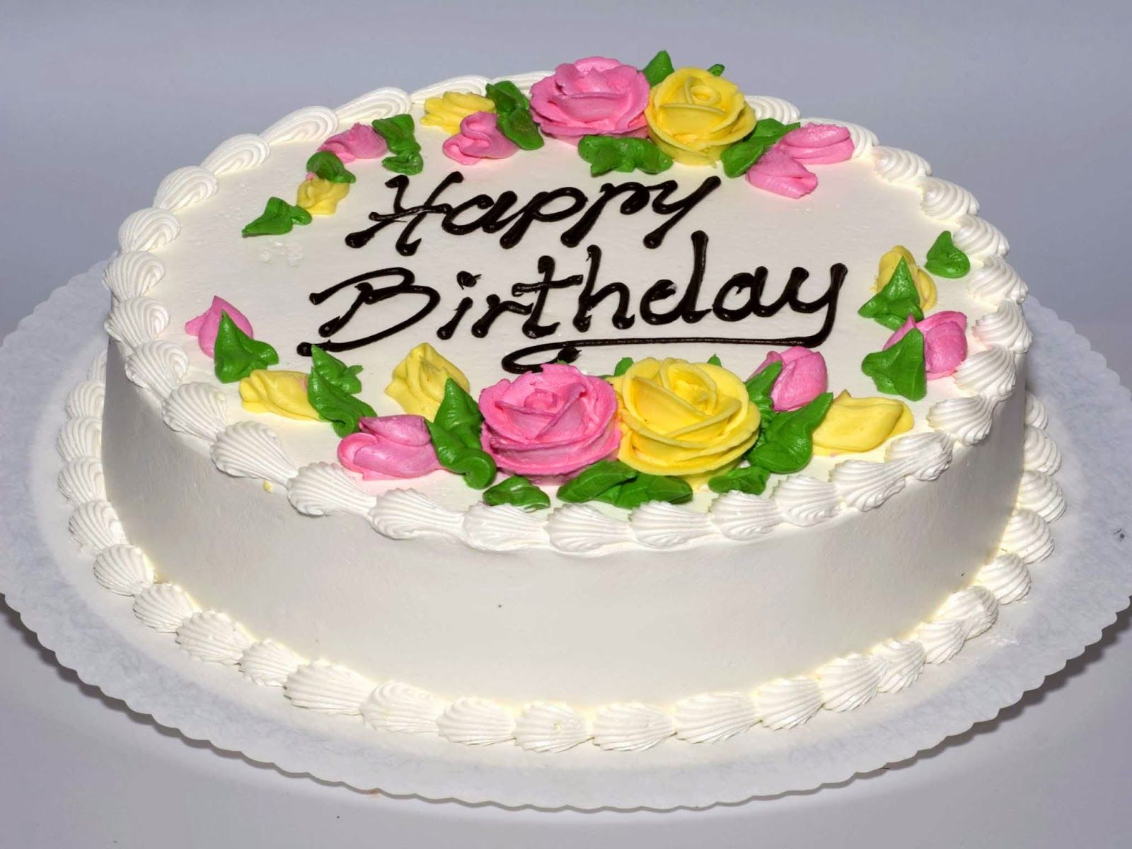 Happy Birthday Cake And Flowers Images Happy Birthday Cakes Pictures Download Happy Birthday Greetings