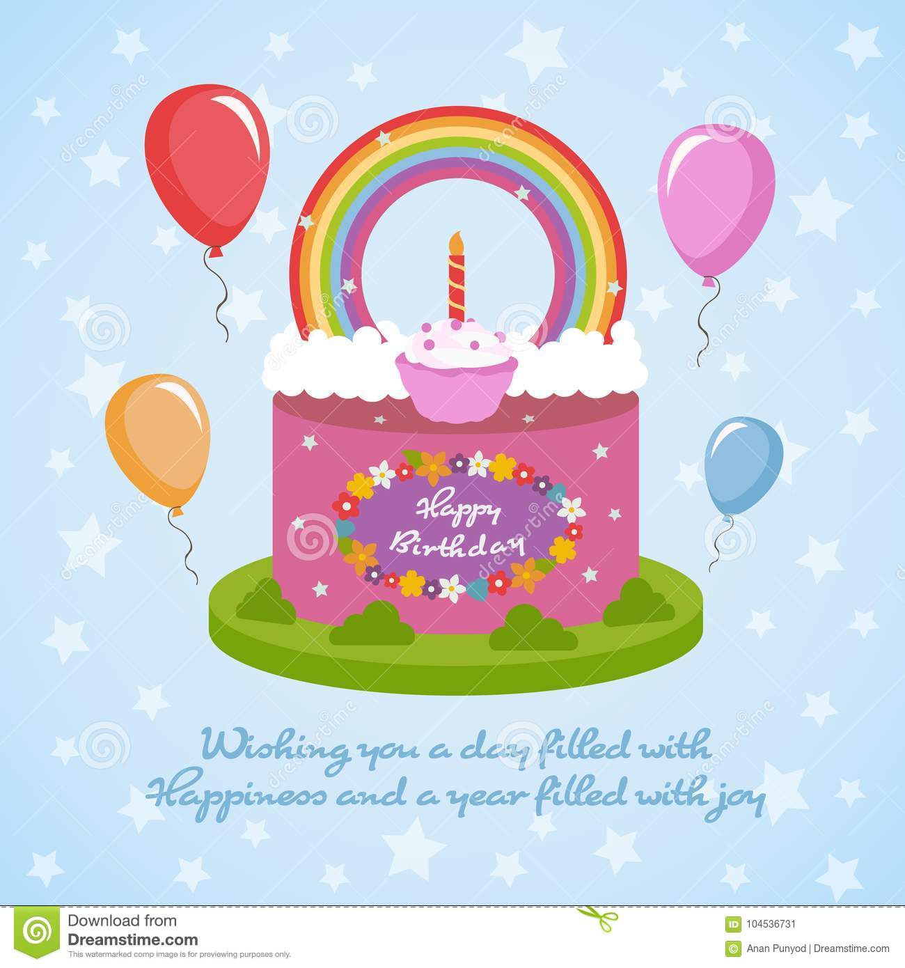 1300 1390 In 34 Great Photo Of Happy Birthday Cake And Flowers Images Rainbow Clude