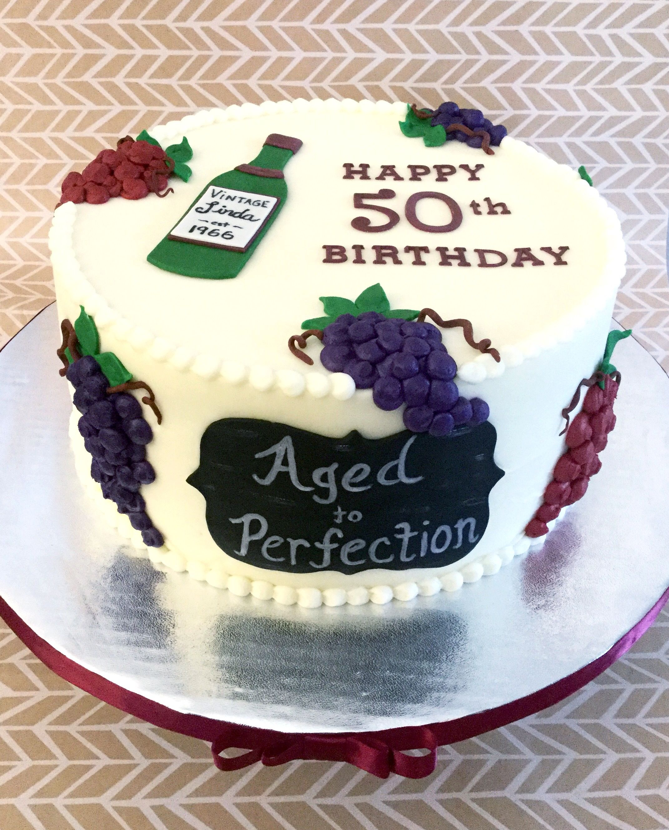 Happy Birthday Cake Pictures Wine Themed 50th Birthday Cake Sweet Lias Cakes Treats