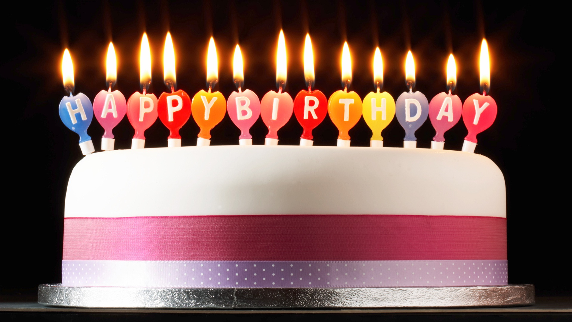 Happy Birthday Cake With Candles 9 With Candles Cakes Happy Birthday Quote Photo Happy Birthday