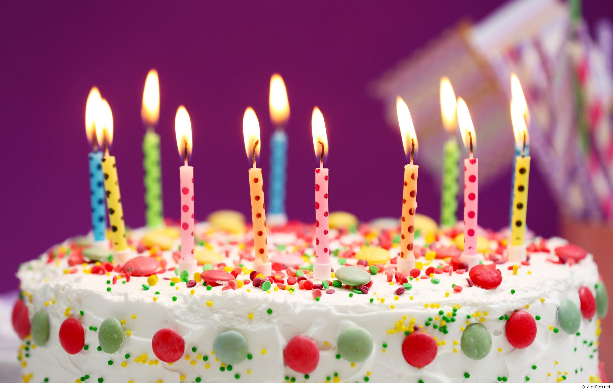 Happy Birthday Cake With Candles Amazing Happy Birthday Cake Wallpapers Hd
