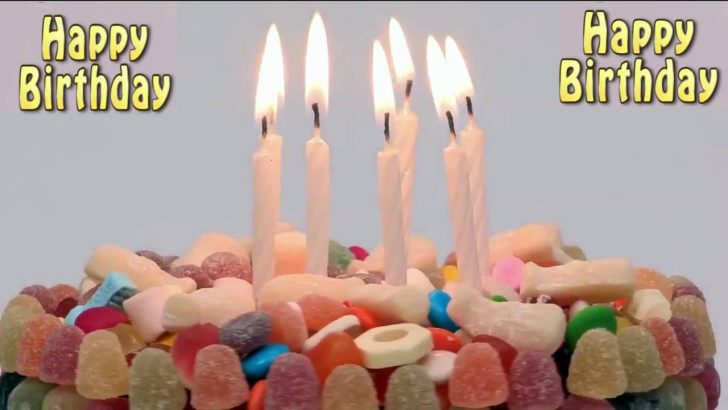 Happy Birthday Cake With Candles Happy Birthday Cake With Blowing Candles Youtube