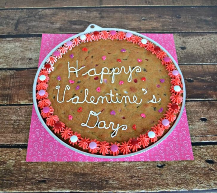 Happy Birthday Cookie Cake Chocolate Chip Cookie Cake For Valentines Day Hezzi Ds Books And