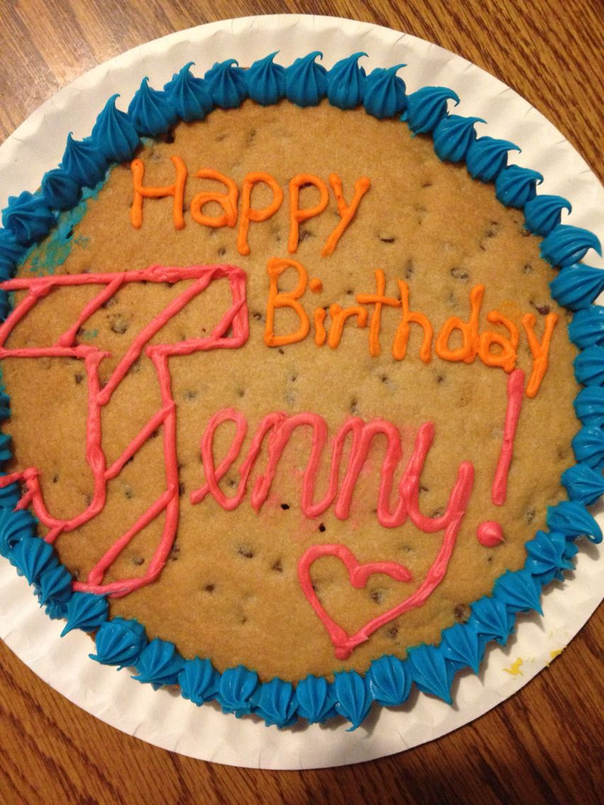 Happy Birthday Cookie Cake This Is Just A Simple Example Of How You Could Make A Happy Birthday