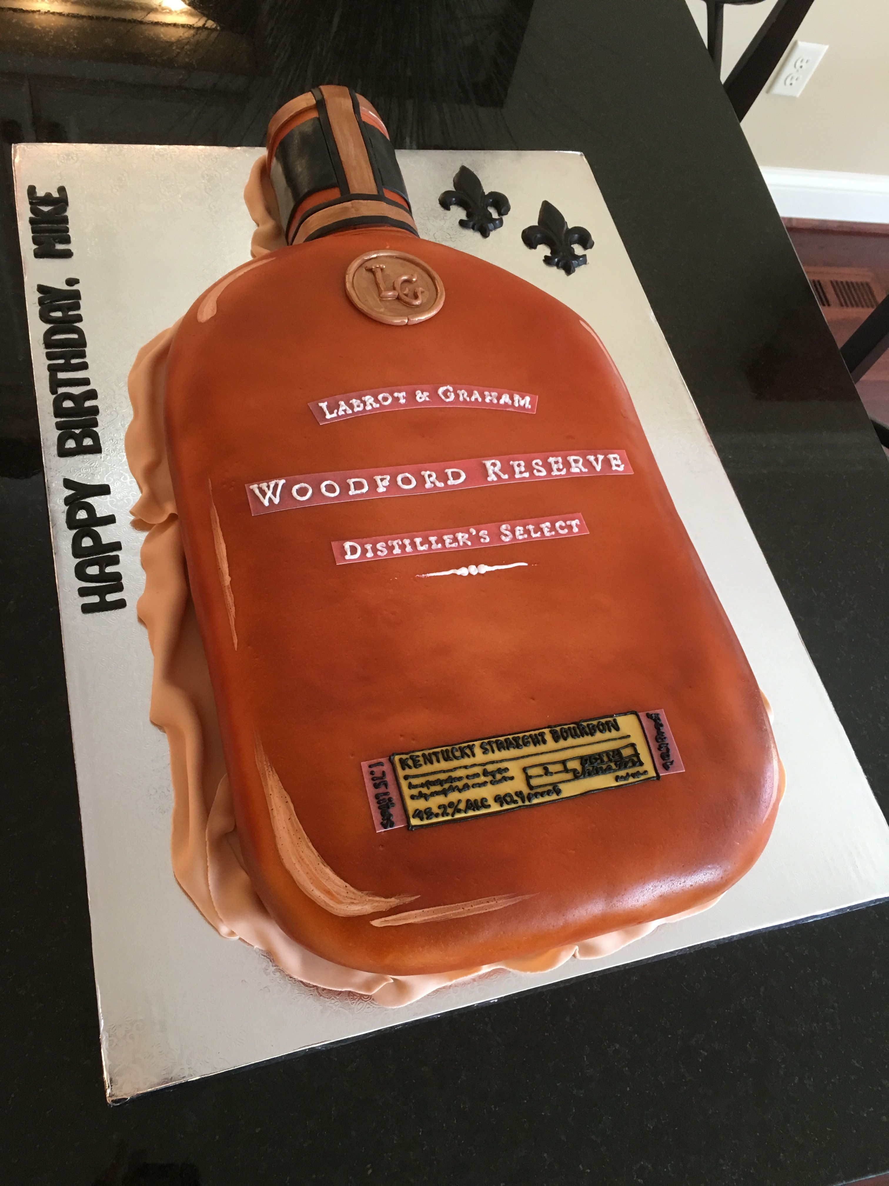 Happy Birthday Mike Cake Happy Birthday To Mikethe Man Loves His Bourbon All My