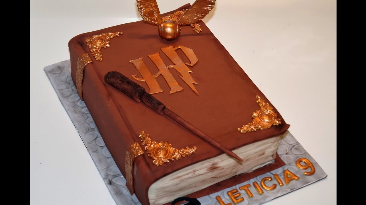 Harry Potter Birthday Cake Cake Decorating Tutorials How To Make A 3d Harry Potter Book Of
