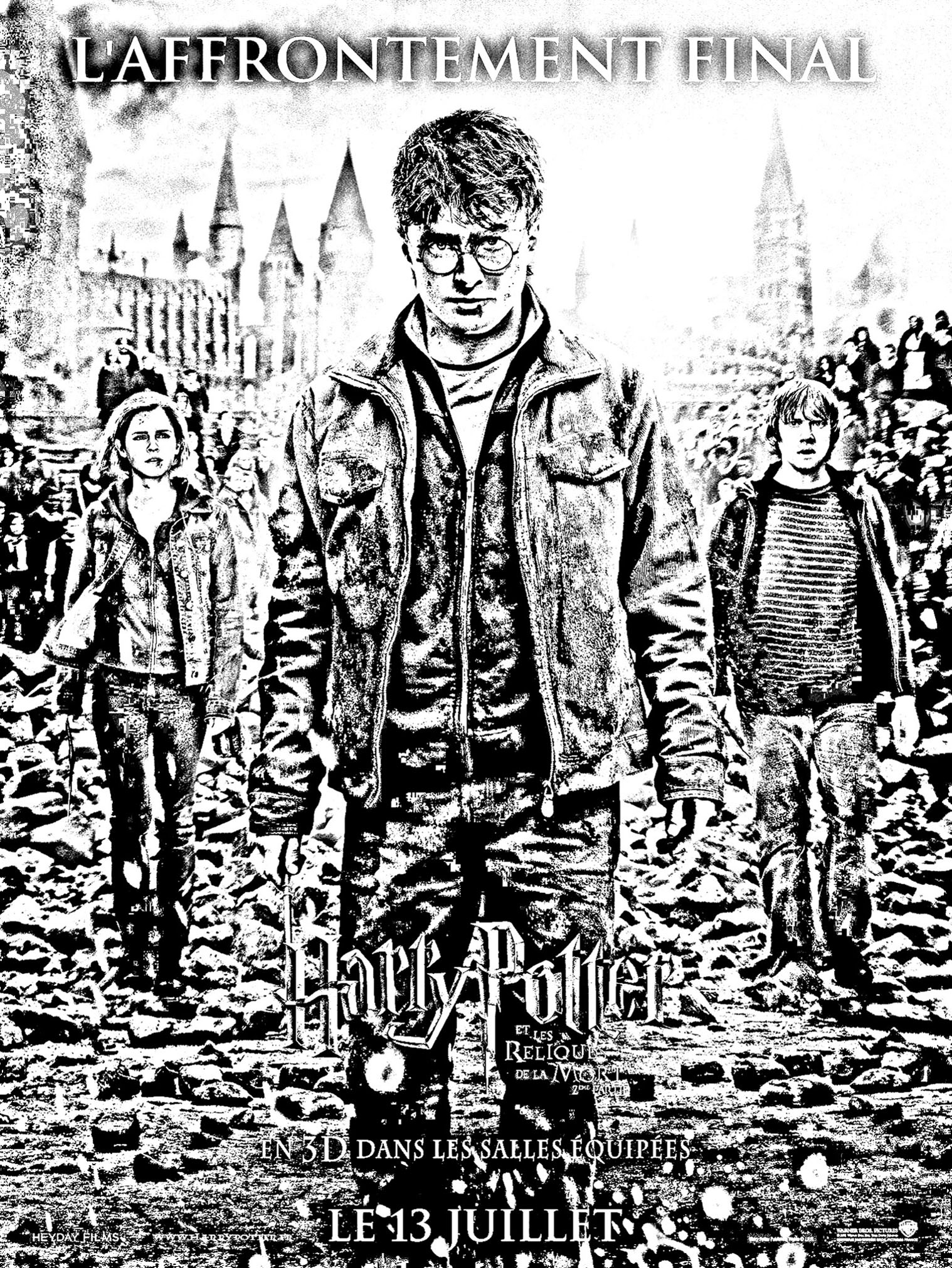 Harry Potter Coloring Pages Brilliant Ideas Of Movie Harry Potter 7 2 Affiche Movies Adult