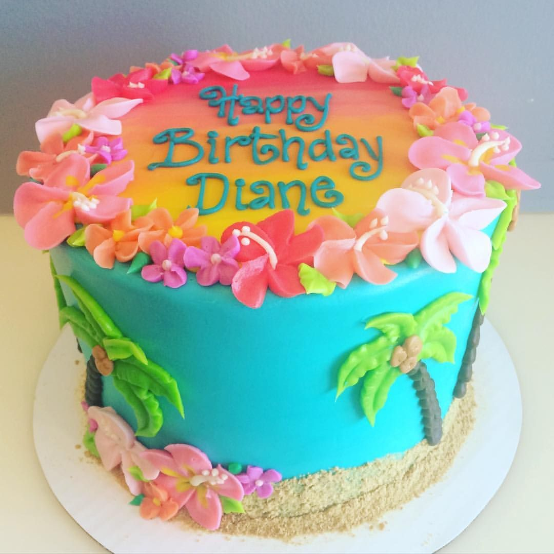 25+ Awesome Photo of Hawaiian Birthday Cakes