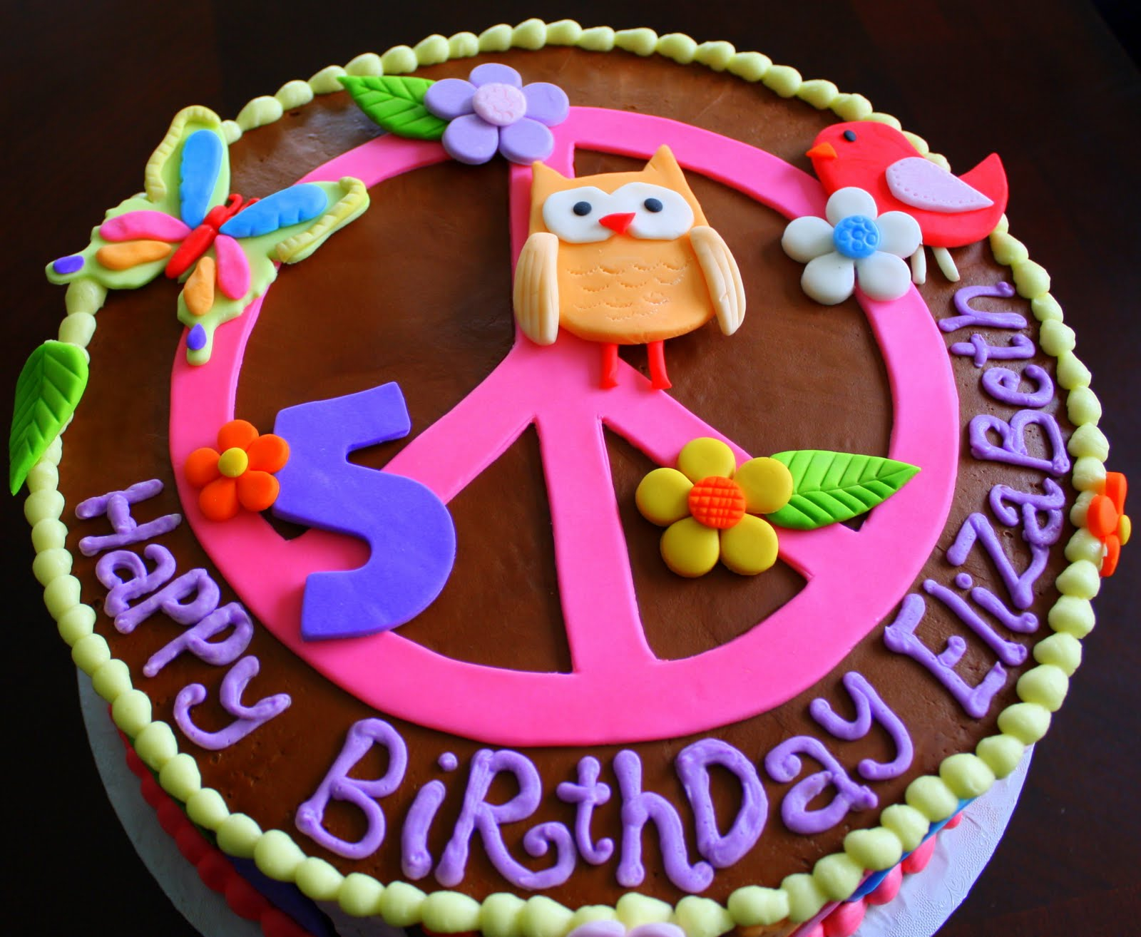 Hippie Birthday Cake 11 Hippie Chick Birthday Cakes Photo Hippie Chick Birthday Cake