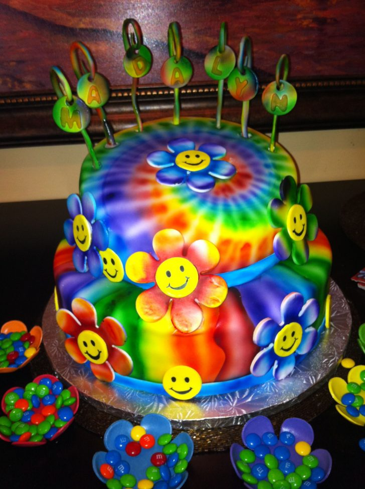 Hippie Birthday Cake Airbrushed Birthday Cake Sue Cakes Me Cake Birthday Cake