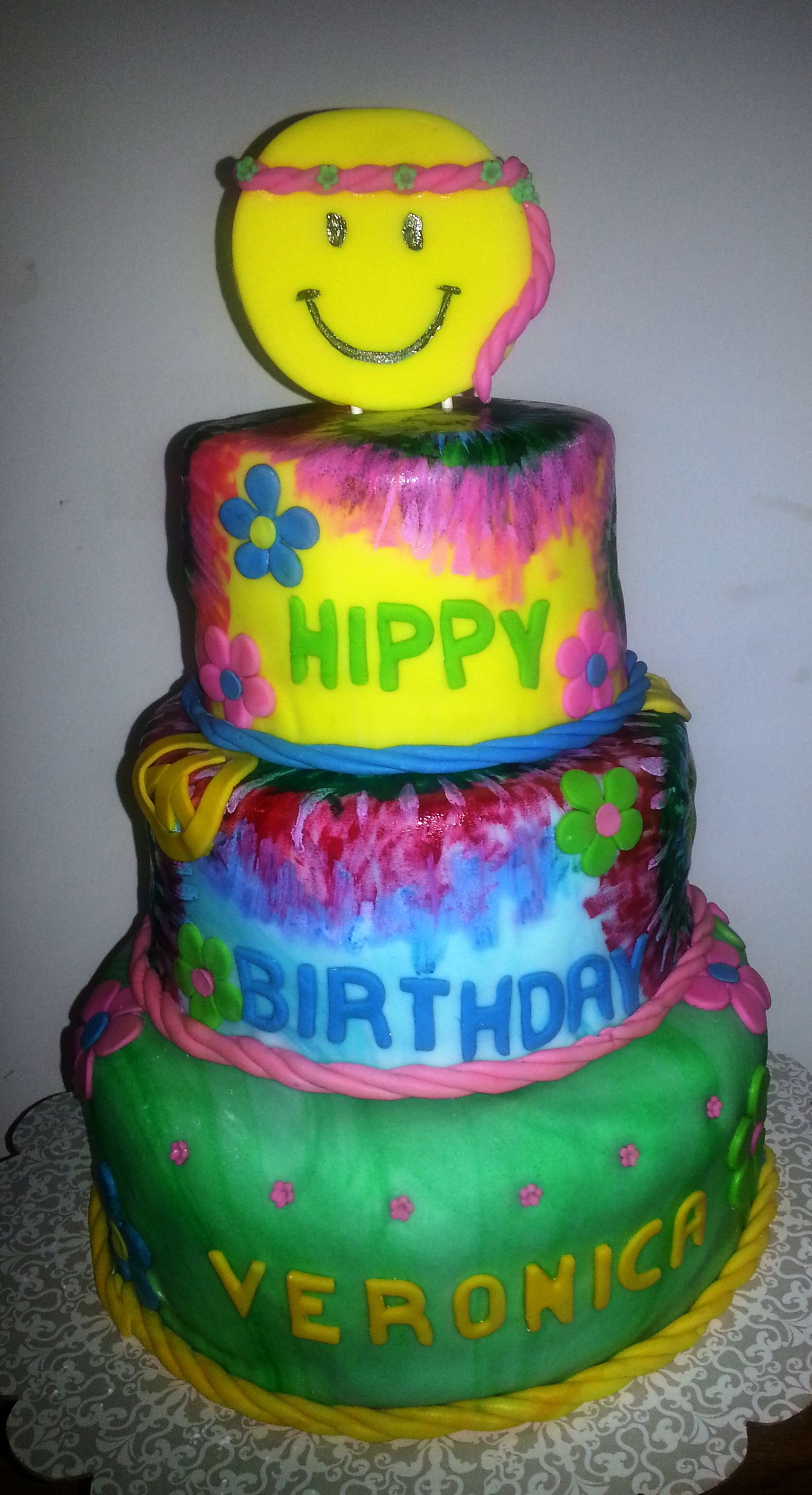 Hippie Birthday Cake Hippie Cakes Google Search All Things Party Pinterest Hippie
