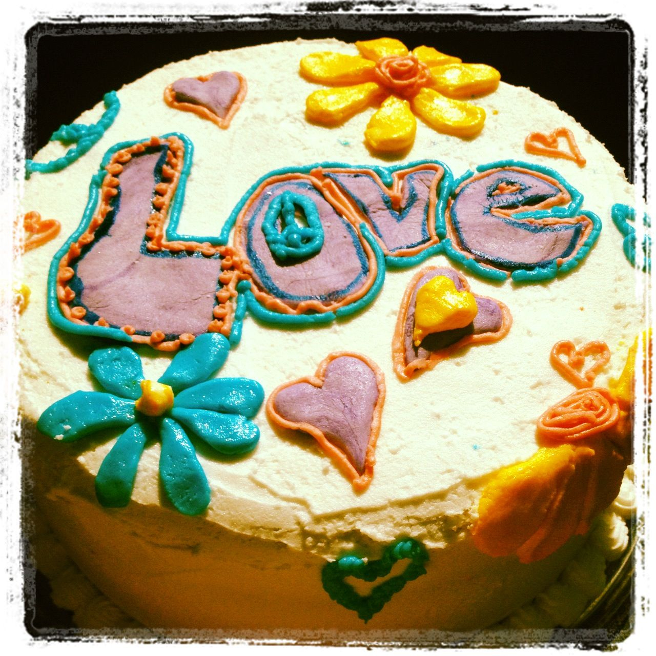 Hippie Birthday Cake Image Detail For My Hippie Fest Birthday Party Rainbow Cake