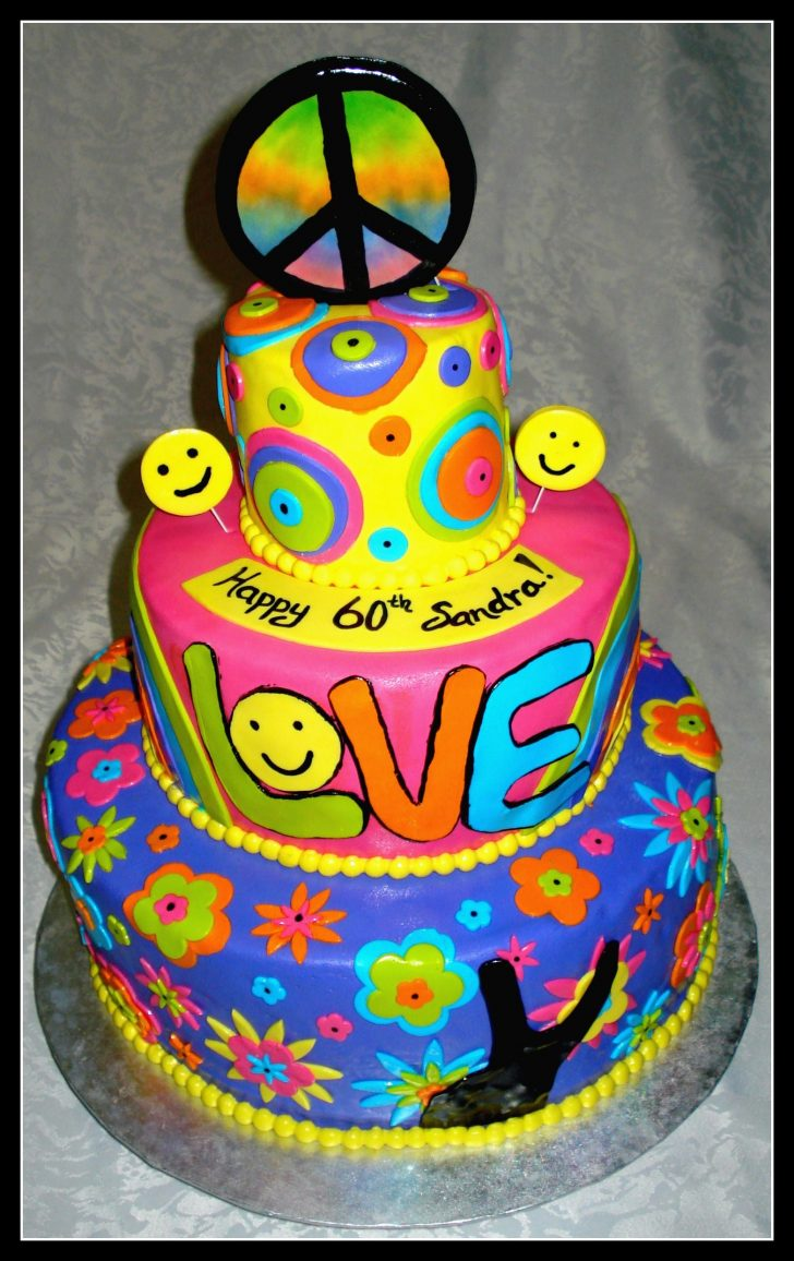 Hippie Birthday Cake Pin Gene Doss On Wedding Cakes Food Hippie Cake Cake