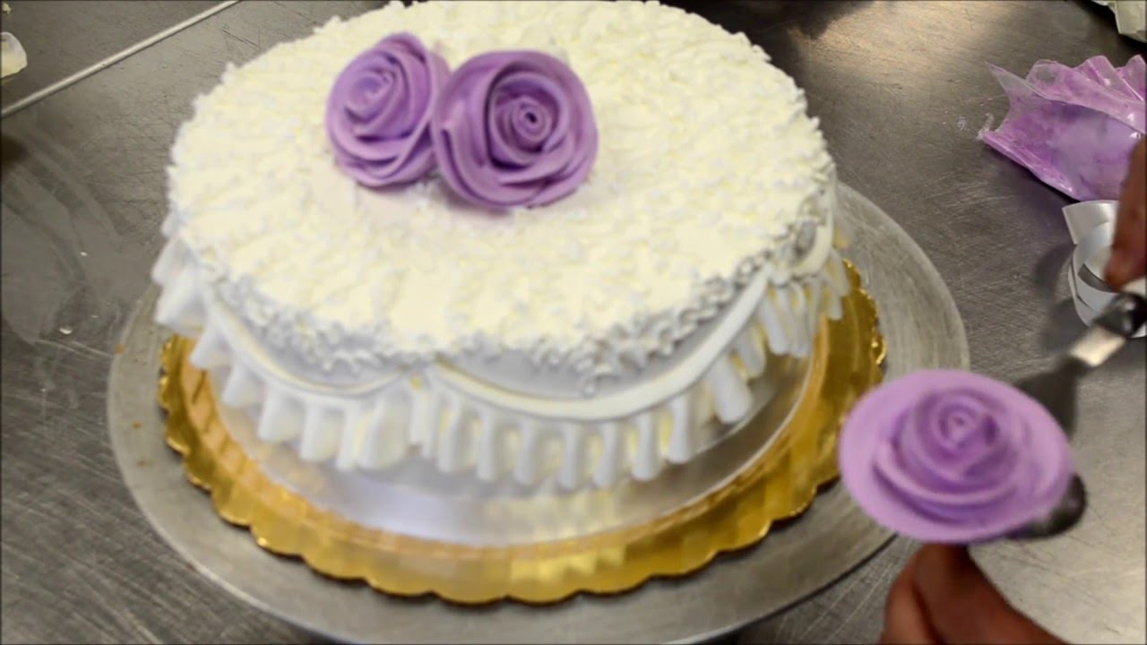How To Make Birthday Cake How To Make A Perfect And Easy Purple Birthday Cake Tutorial Youtube