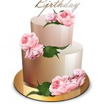 Images Of Happy Birthday Cake Happy Birthday Cake Realistic Anniversary Vector Image