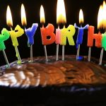 Images Of Happy Birthday Cake Lighted Candles On A Happy Birthday Cake Candles With The Words