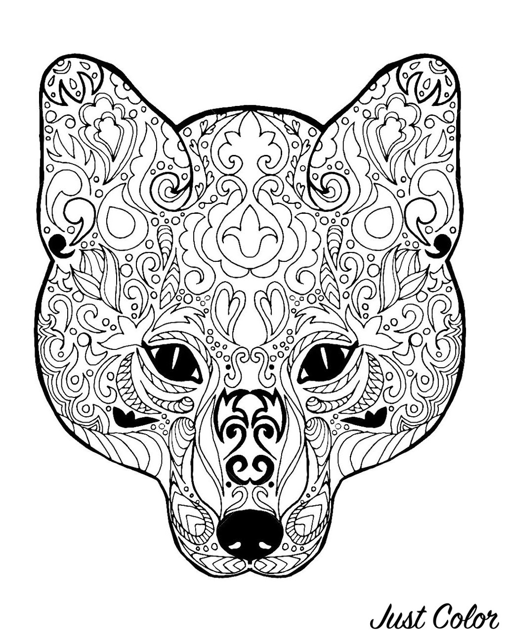 Kid Coloring Pages Fox For Children Fox Kids Coloring Pages