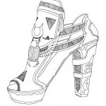 Kids Color Pages High Heel Shoe Coloring Pages For Adults And Kids