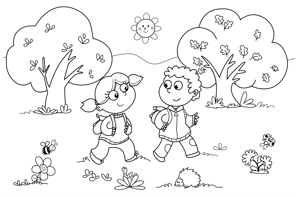 30+ Creative Photo of Kindergarten Coloring Pages