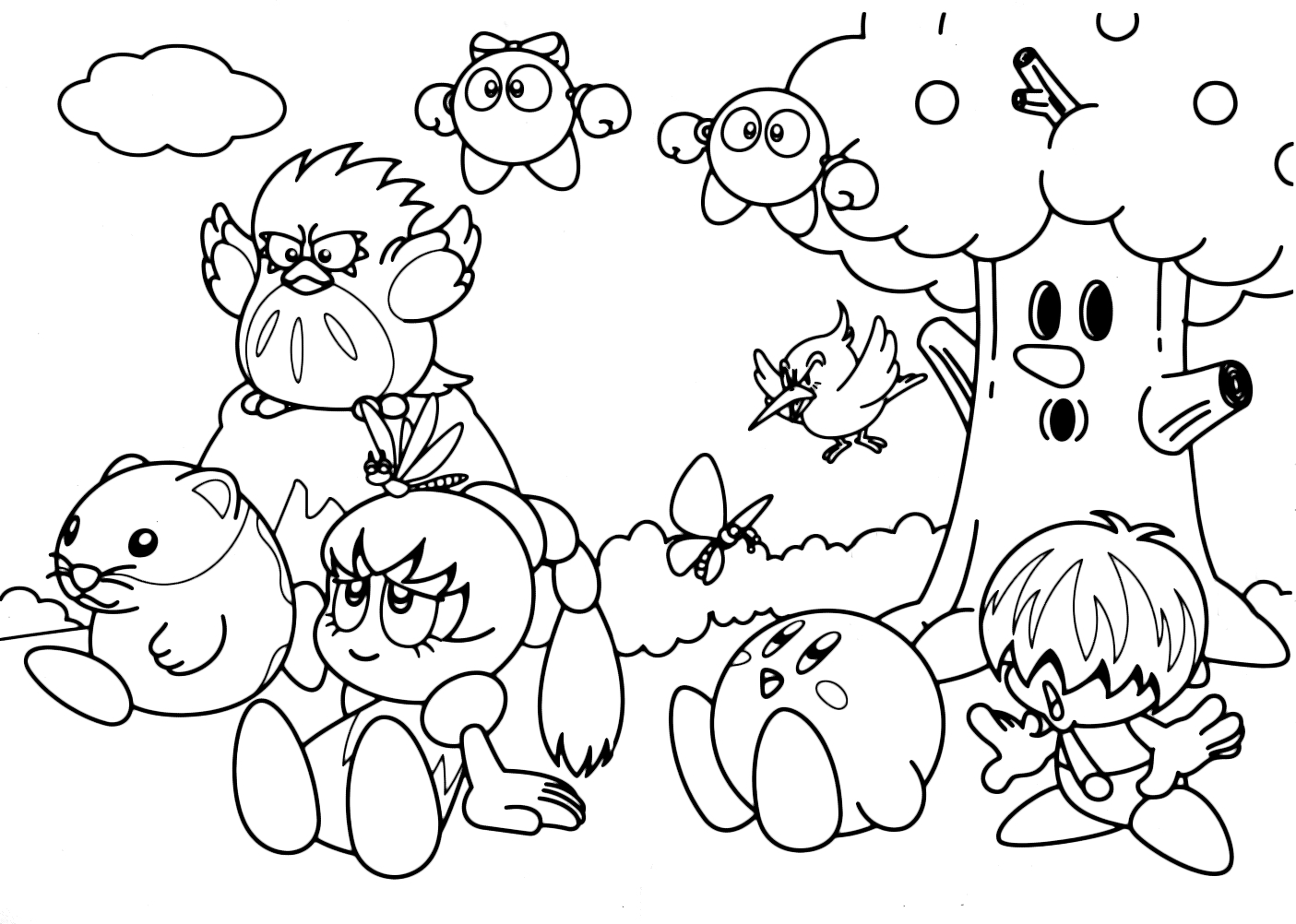 25+ Pretty Image of Kirby Coloring Pages