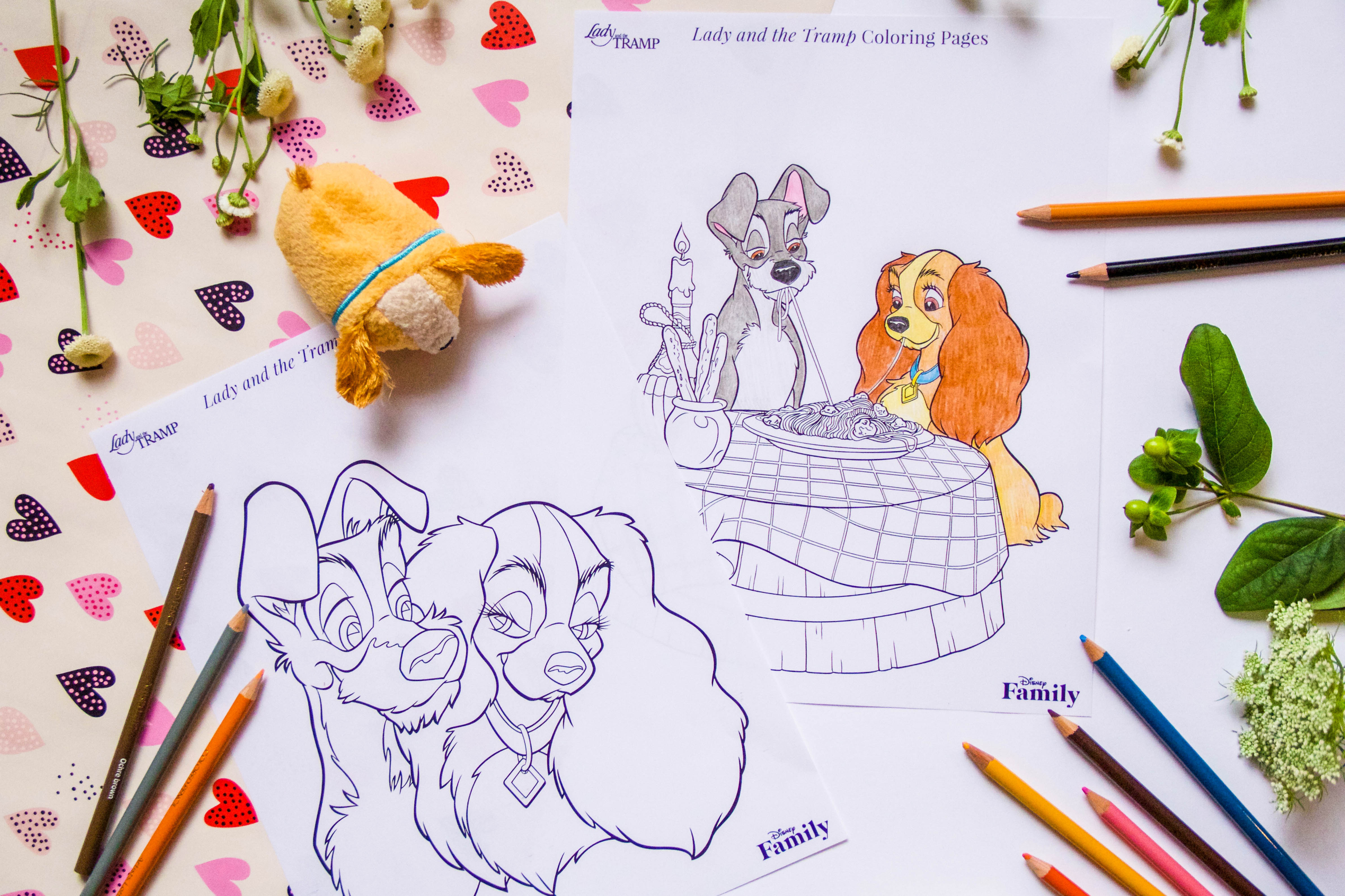 Lady And The Tramp Coloring Pages Lady And The Tramp Coloring Pages Disney Family