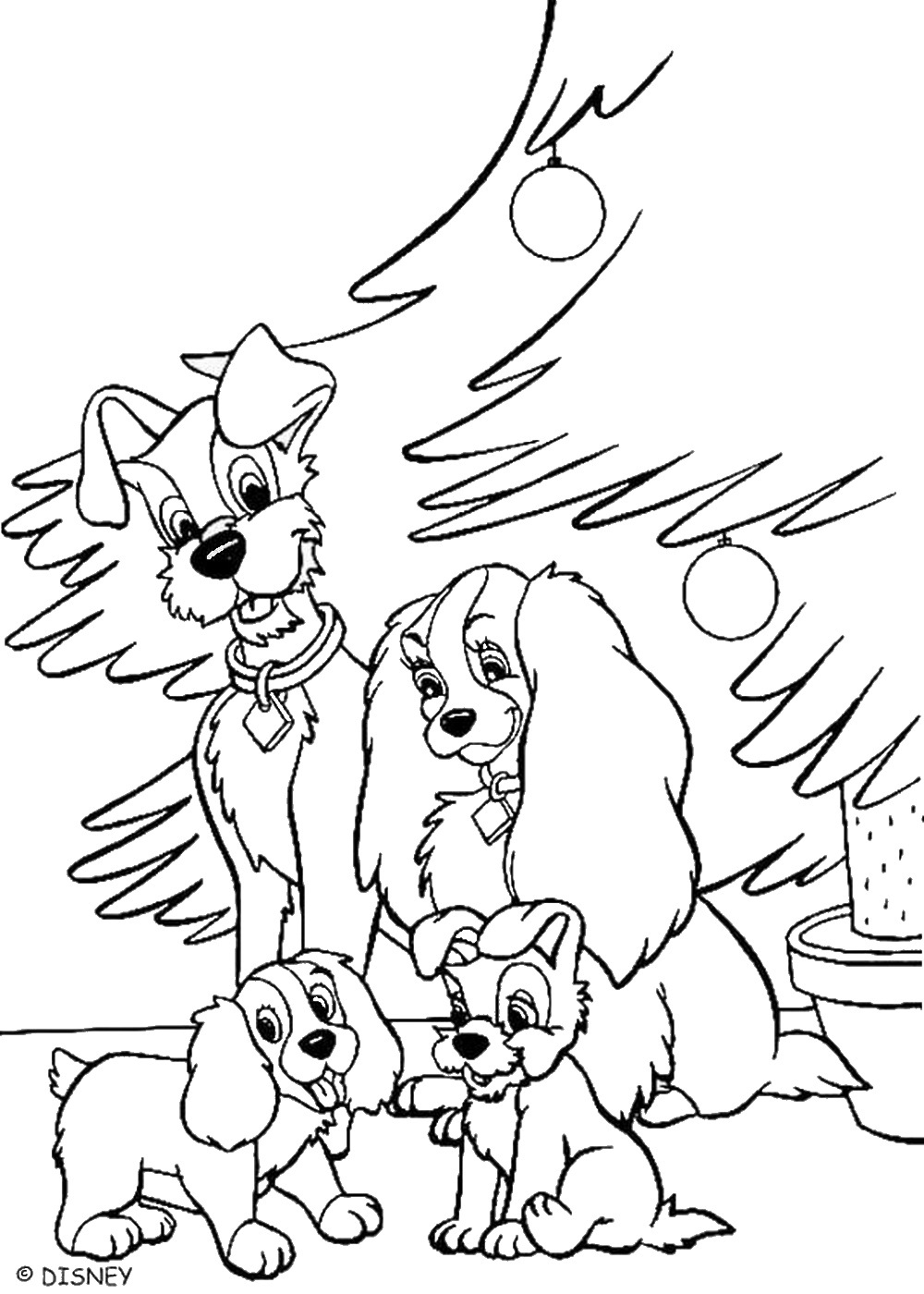 Lady And The Tramp Coloring Pages Lady And The Tramp Coloring Pages