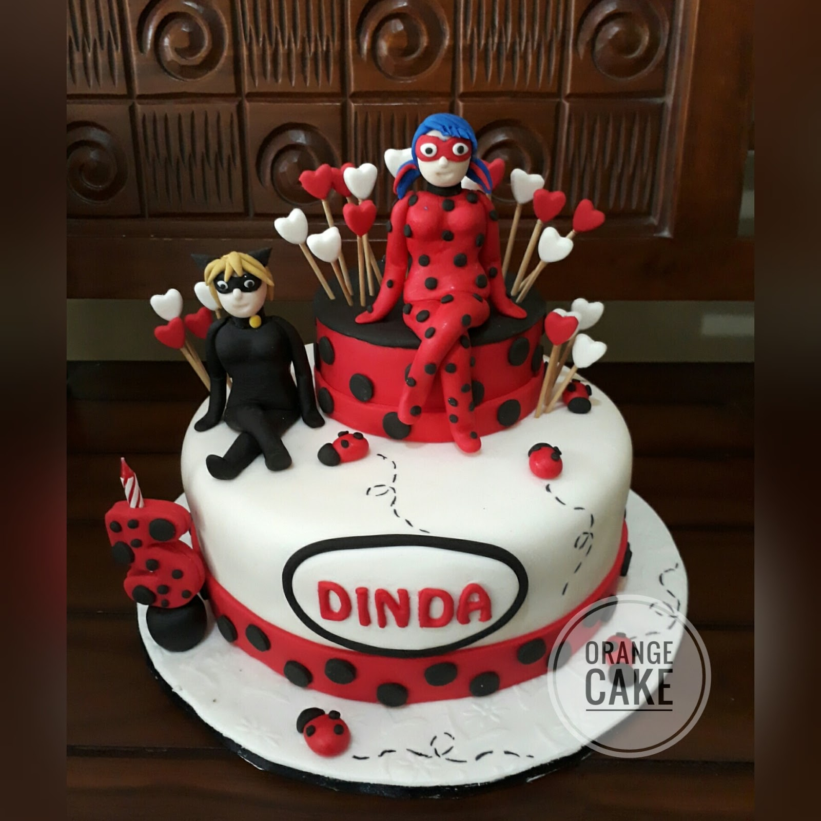 Ladybug Birthday Cake Orange Cake Miraculous Ladybug Birthday Cake For Dinda