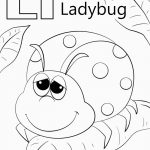 Ladybug Coloring Page Letter L Is For Ladybug Coloring Page For L Coloring Pages Get