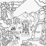 Lego Coloring Pages Lego Pirates Jungle Coloring Pages Printable