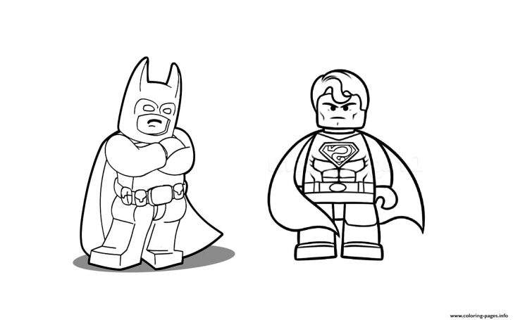 Lego Coloring Pages Within Superman Lego Coloring Pages Best Coloring Pages Collection