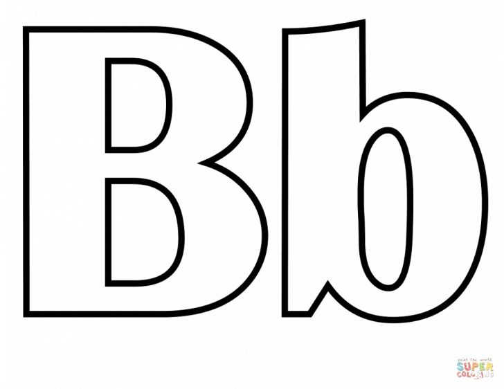 Letter B Coloring Pages Letter B Coloring Page Coloring Page For Kids