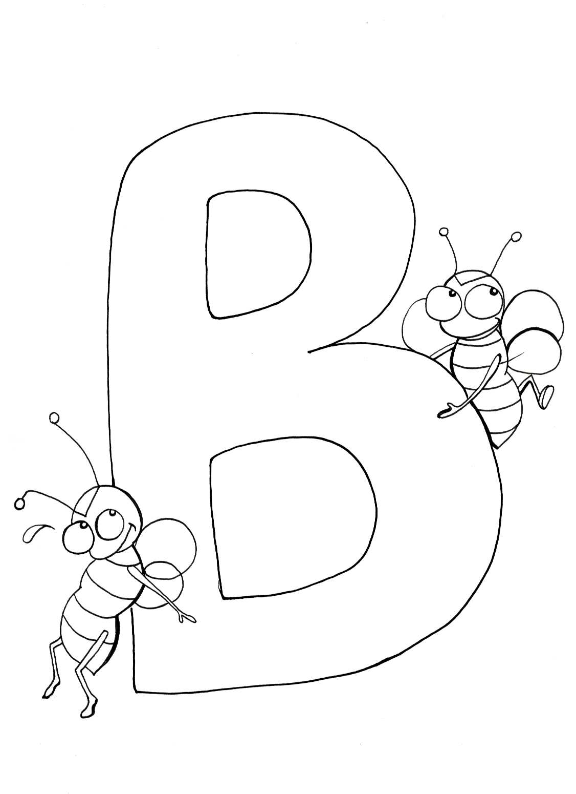 Letter B Coloring Pages Letter B Coloring Pages At Getdrawings Free For Personal Use