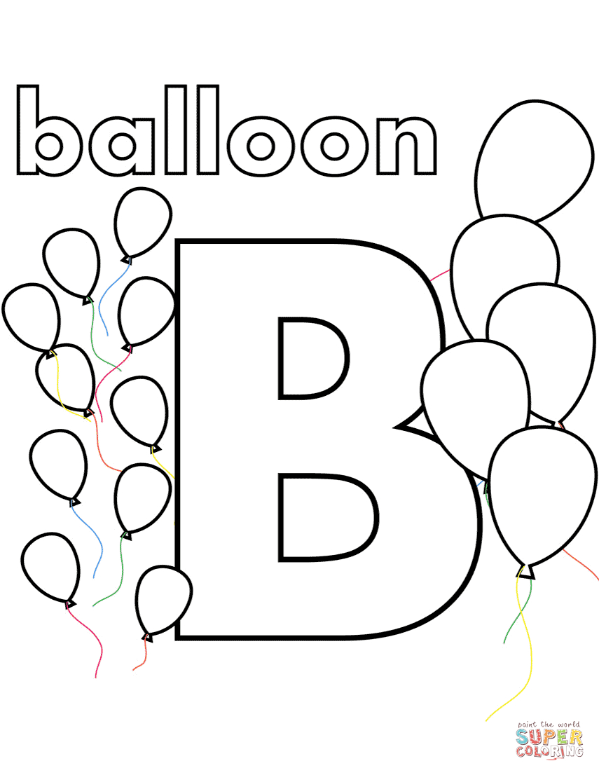25+ Elegant Picture of Letter B Coloring Pages