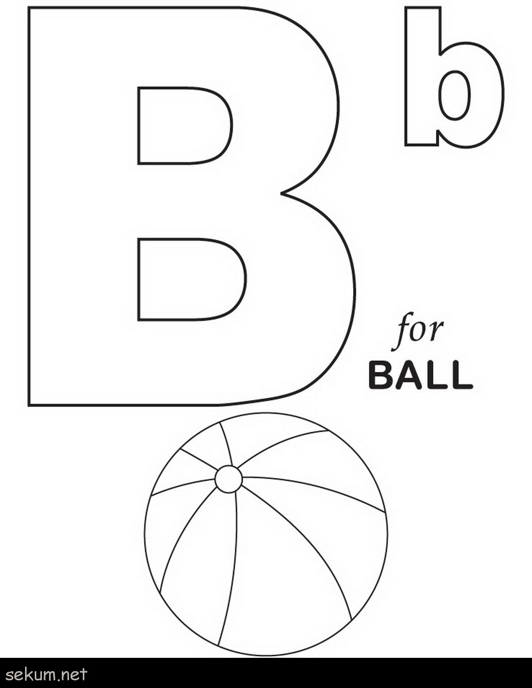 Letter B Coloring Pages Letter B Printable Coloring Pages Printables Alphabet B Coloring