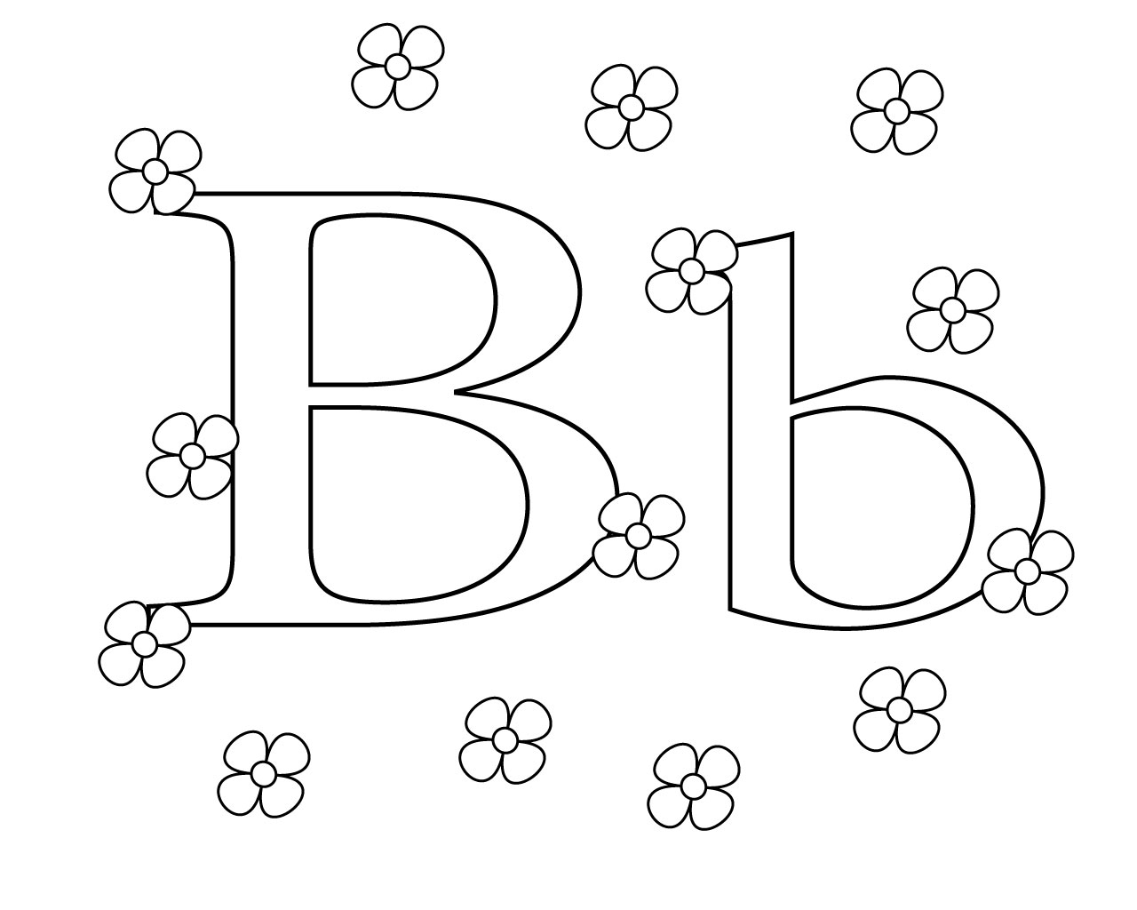Letter B Coloring Pages Printable Letter B Coloring Pages For Kids
