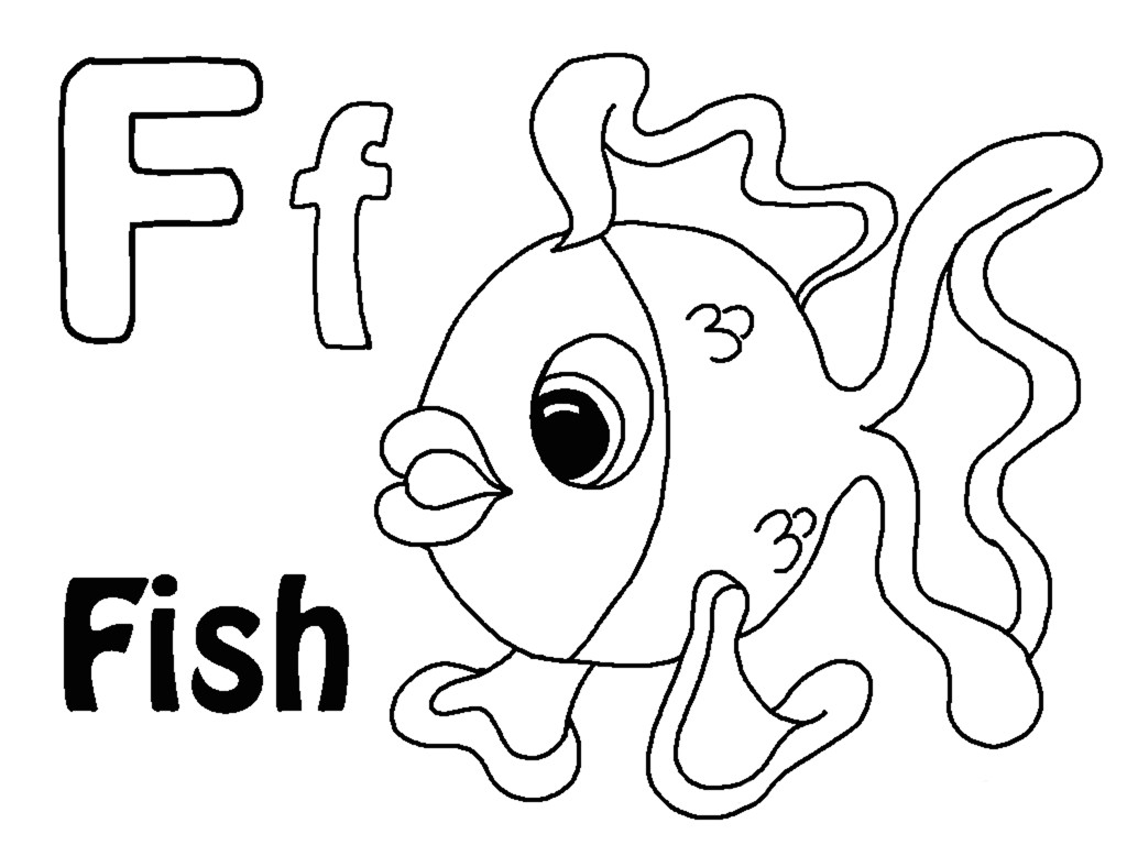 Letter F Coloring Page F Coloring Page 13 Within Letter F Coloring Page Coloring Pages
