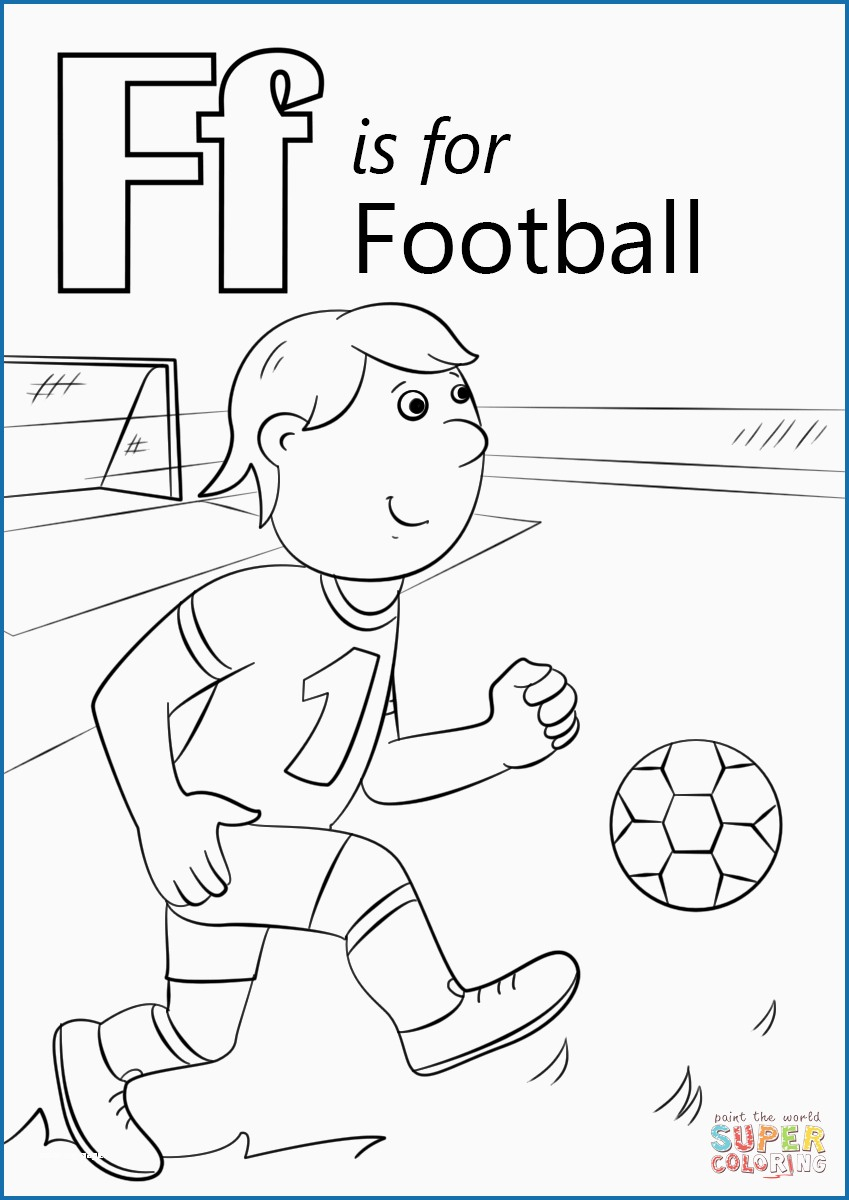 Letter F Coloring Page Letter F Coloring Page Unique Letter F Is For Football Coloring Page