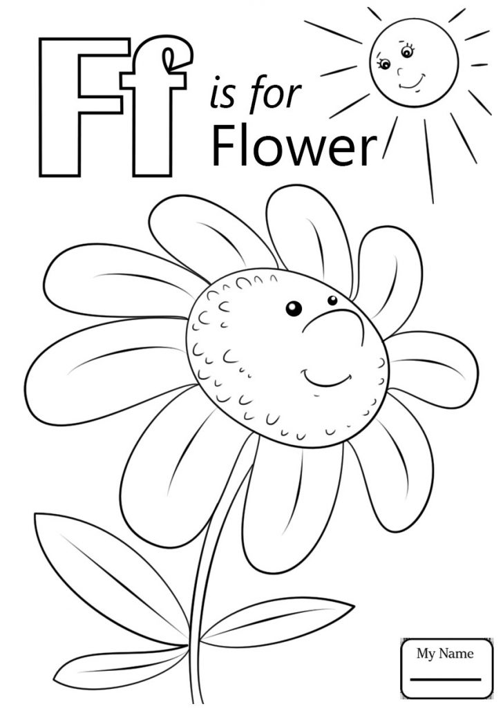Letter F Coloring Page Letter F Coloring Pages 11 K Is For Flower Letters And Alphabet Kids