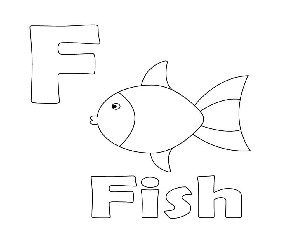 Letter F Coloring Page Letter F Coloring Pages For Preschoolers Toddlers Free 1024819