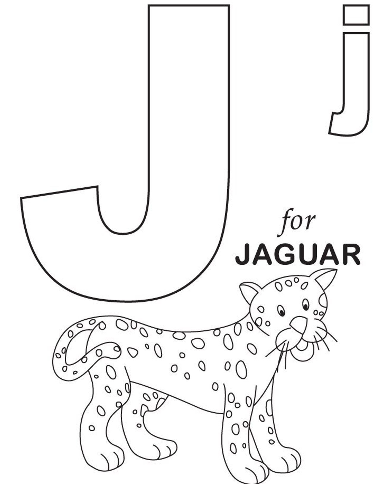 Beautiful Photo of Letter J Coloring Page