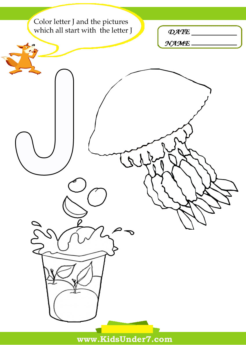 Letter J Coloring Page Letter J Coloring Pages Kids Under Worksheets Coloring Pages