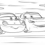 Lightning Mcqueen Coloring Pages Lightning Mcqueen And Sally From Cars 3 Coloring Page On Lightning