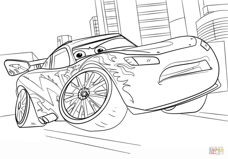 Lightning Mcqueen Coloring Pages Lightning Mcqueen From Cars 3 Coloring Page Free Printable