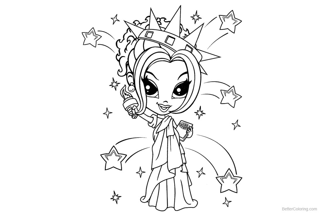 Lisa Frank Coloring Pages Lisa Frank Coloring Pages Statue Of Liberty Free Printable
